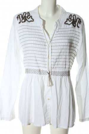 Kaffe Long Blouse white abstract pattern casual look