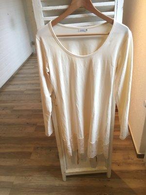 Kaffe Longshirt Kleid in Vanille Gr L mit Spitzensaum