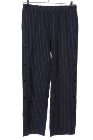Kaffe Spodnie Marlena czarny-jasnoszary Wzór w paski W stylu biznesowym