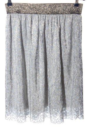 Kaffe Plisowana spódnica niebieski-srebrny Wzór w lwa W stylu casual