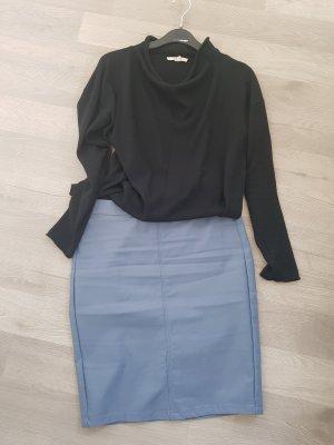 Kaffe Faux Leather Skirt azure