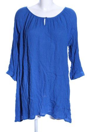 Kaffe Schlupf-Bluse blau Casual-Look