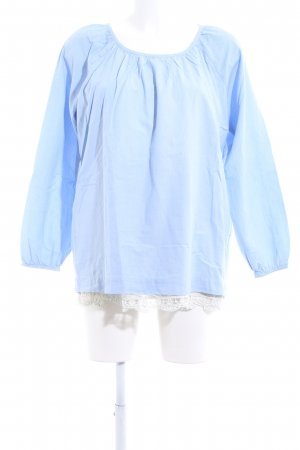 Kaffe Schlupf-Bluse blau Business-Look