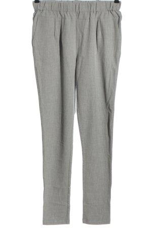 Kaffe Pantalón tipo suéter gris claro moteado look casual