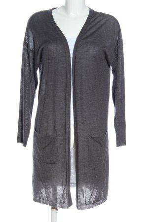 Kaffe Cardigan in maglia grigio chiaro puntinato stile casual