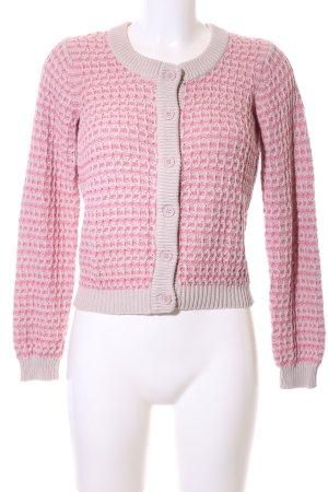 Kaffe Cardigan in maglia bianco sporco-rosa Cotone