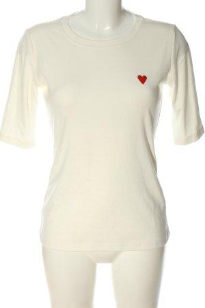 Kaffe T-shirt blanc-rouge style décontracté