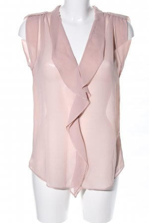 Kaffe Transparenz-Bluse pink Casual-Look