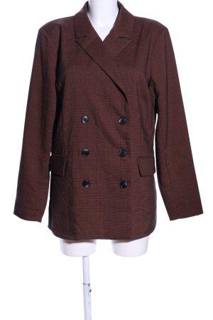 Kaffe Tweed blazer bruin geruite print casual uitstraling