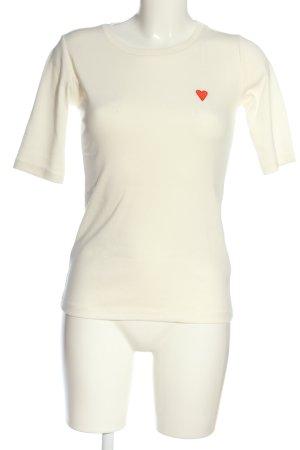 Kaffe T-shirt bianco stile casual