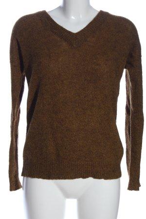 Kaffe V-Ausschnitt-Pullover bronzefarben Casual-Look
