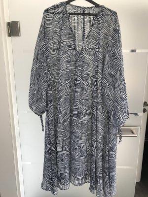 H&M Capo da spiaggia blu scuro-bianco sporco