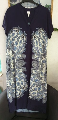 H&D Collection Kaftan donkerblauw