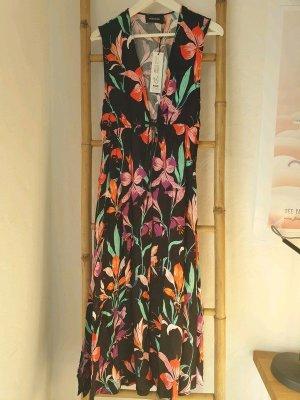 Kaftan Kleid Wickelkleid Minkpink XS S Blumen Print