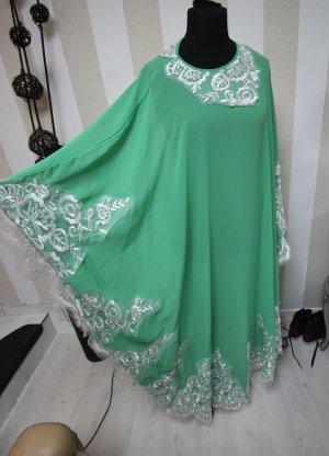 Caftan white-lime-green