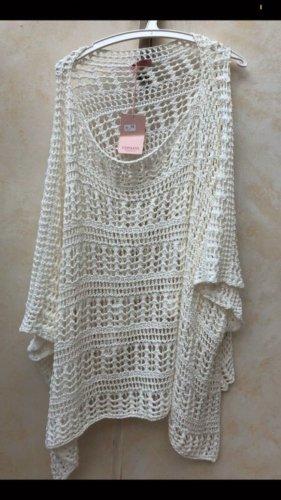 Impressionen Crochet Cardigan natural white-white