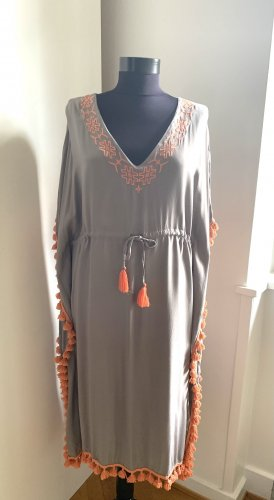 Rainbow Tunic Dress light grey-orange