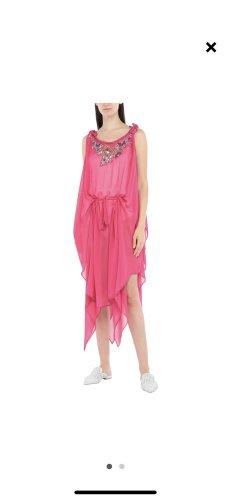 Twinset Vestido de chifón rosa