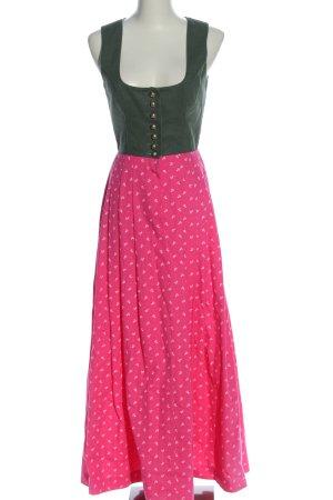 Kaiser Franz Josef Dirndl khaki-pink Blumenmuster klassischer Stil
