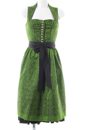 Kaiser Franz Josef Dirndl grün-schwarz Blumenmuster klassischer Stil