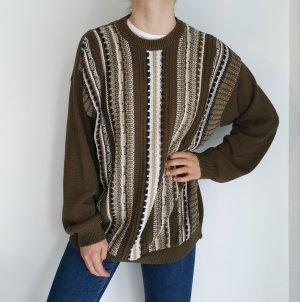 kaki khaki Cardigan Strickjacke Oversize Pullover Hoodie Pulli Sweater Top True Vintage