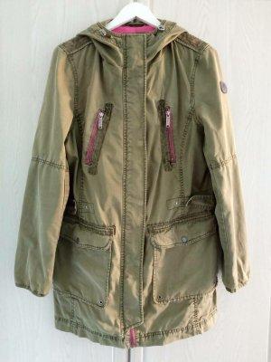 s.Oliver Between-Seasons Jacket olive green-pink cotton