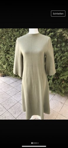 Stefanel Vestido de manga larga caqui