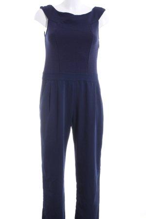 Jumpsuit blau Streifenmuster Casual-Look