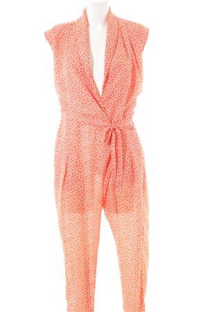 Kala Jumpsuit orange-weiß Blumenmuster Business-Look