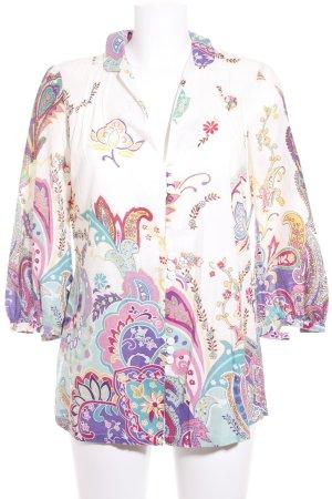 Kala Langarm-Bluse florales Muster Casual-Look
