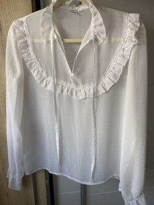 Kalb Langarmbluse 38 M in weiß