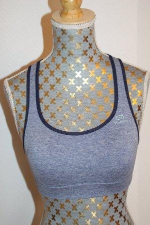 Soutien-gorge bleu acier tissu mixte
