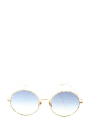Kaleos Okrągłe okulary przeciwsłoneczne złoto W stylu casual
