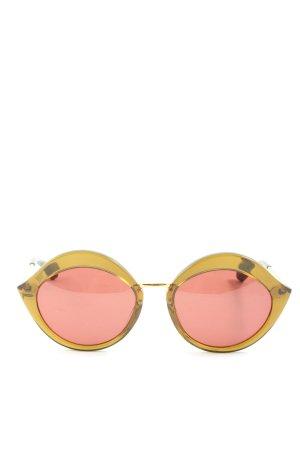 Kaleos runde Sonnenbrille blassgelb-pink Casual-Look