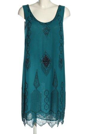 Kaliko Trägerkleid blau grafisches Muster Casual-Look