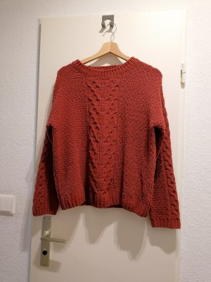 kaminroter/ziegelroter Pullover