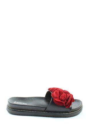 Kamoa Sandalias Dianette negro-rojo look casual