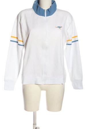 Kangaroos Giacca fitness bianco motivo a righe stile casual