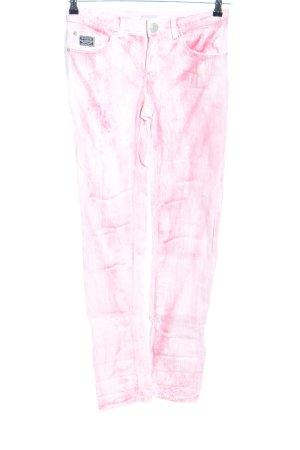 Kangaroos Five-Pocket Trousers pink-white flecked casual look