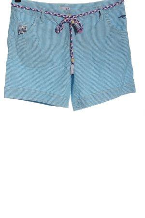 Kangaroos Hot pants blu-bianco stampa integrale stile casual