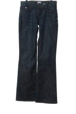 Kangaroos Jeansschlaghose blau meliert Casual-Look