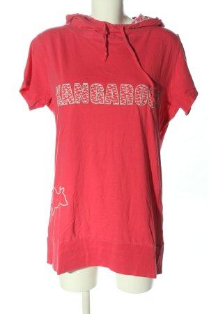 Kangaroos Top à capuche rouge lettrage imprimé style décontracté