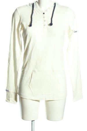 Kangaroos Top à capuche blanc style décontracté