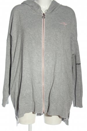 Kangaroos Sweat Jacket light grey flecked athletic style