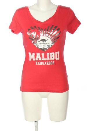 Kangaroos Print-Shirt Motivdruck Casual-Look
