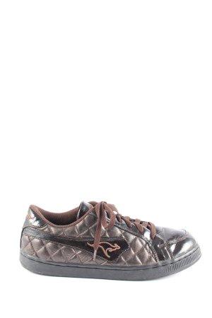 Kangaroos Zapatos brogue color bronce-marrón estampado acolchado look casual