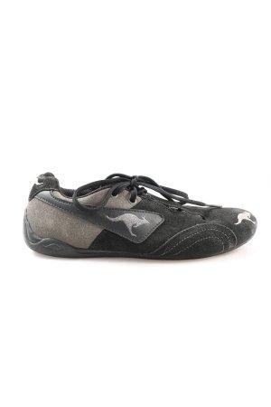 Kangaroos Schnürsneaker schwarz-hellgrau sportlicher Stil