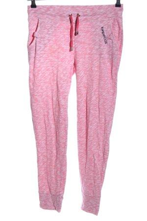 Kangaroos Sporthose pink-weiß meliert Casual-Look