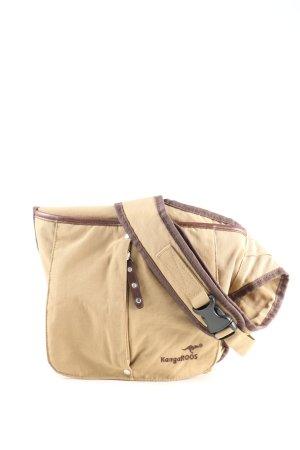 Kangaroos Sac de sport blanc cassé-brun lettrage brodé style décontracté