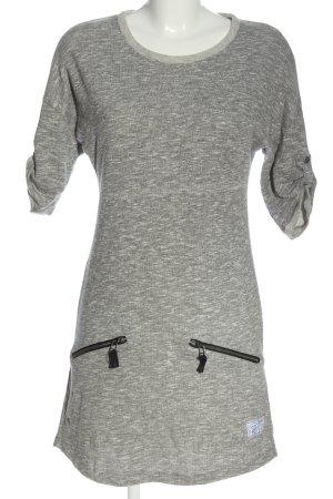 Kangaroos Abito di maglia grigio chiaro puntinato stile casual